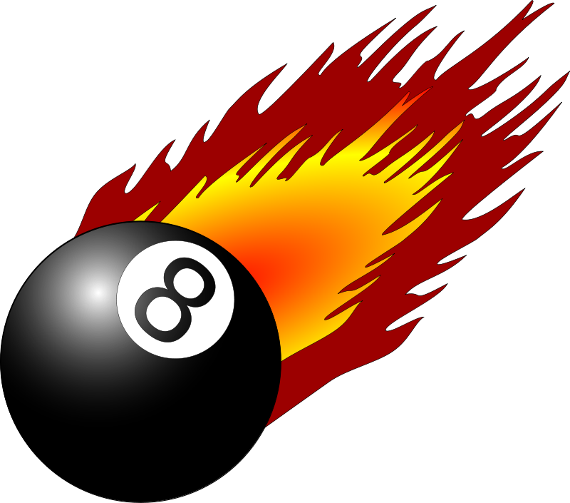 Free 8ball with flames