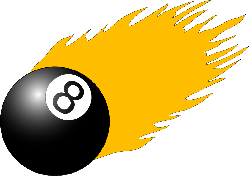 Free Clipart: 8ball with flames | drunken_duck