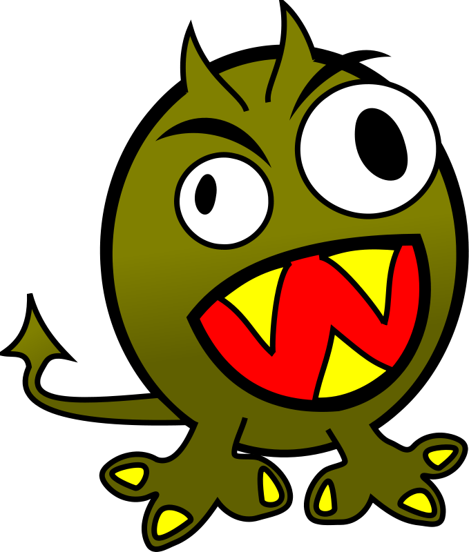 Free small funny angry monster