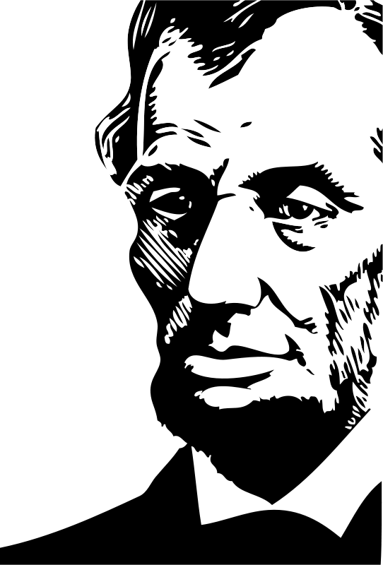 Free Clipart: Abraham Lincoln | FunDraw_dot_com