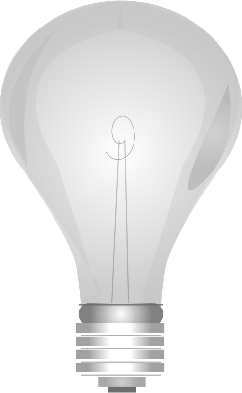 Free Lightbulb Grayscale