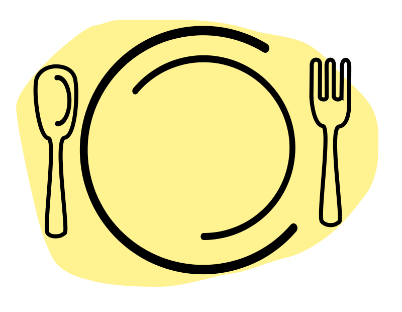 Free Dinner Plate with Spoon and Fork