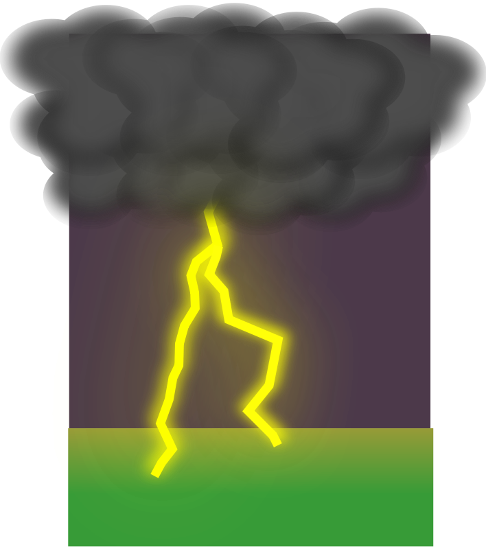 Free Clipart: Clouds and lightning | elegantsolution