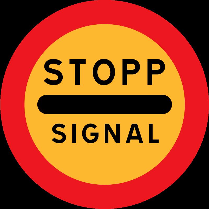 Free stopp signal sign