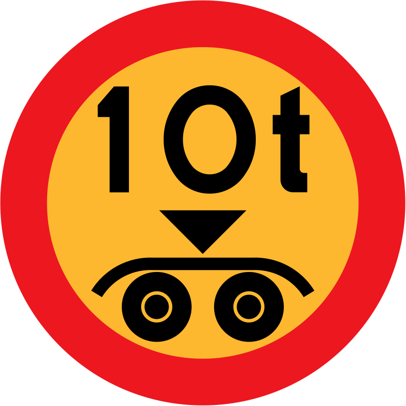Free 10 ton payload sign