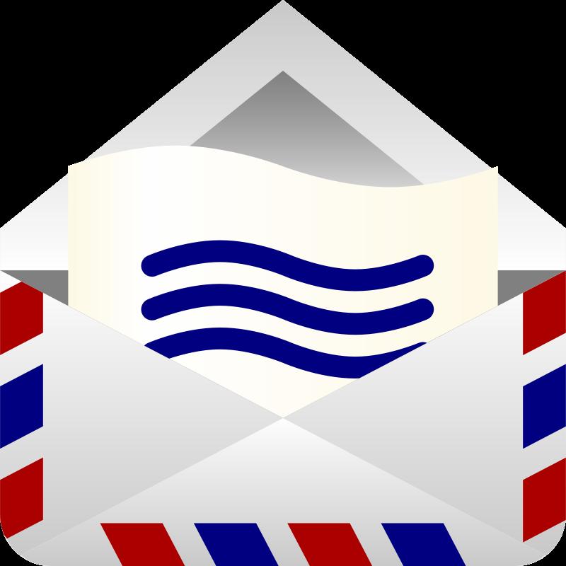 Free Air mail envelope