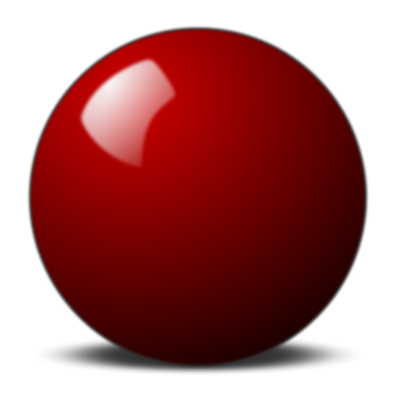 Free Red snooker ball