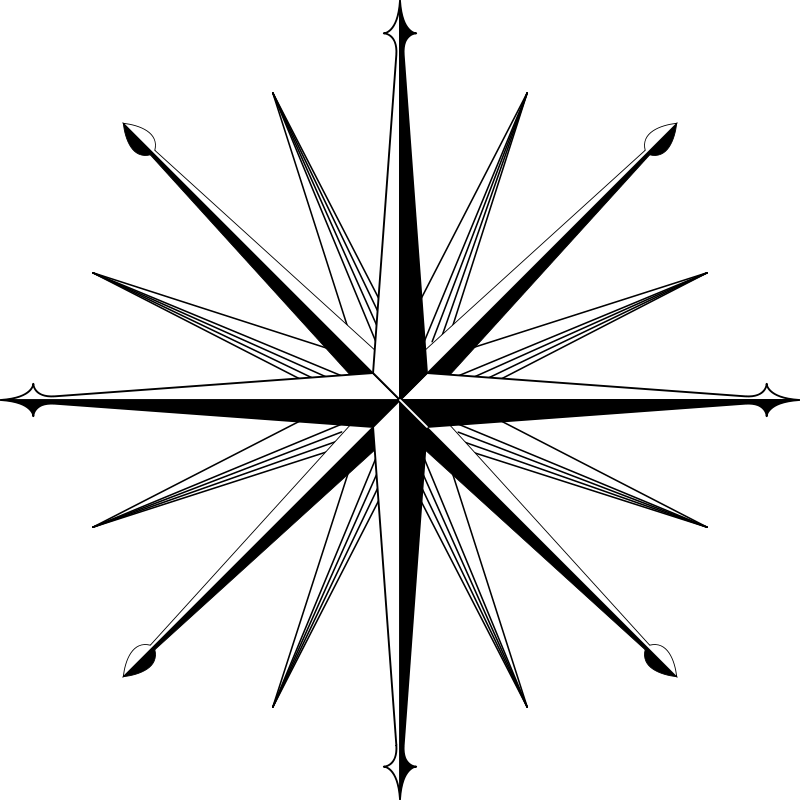 Free wind rose / compass rose