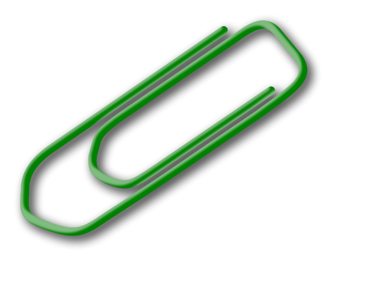 Free green paperclip