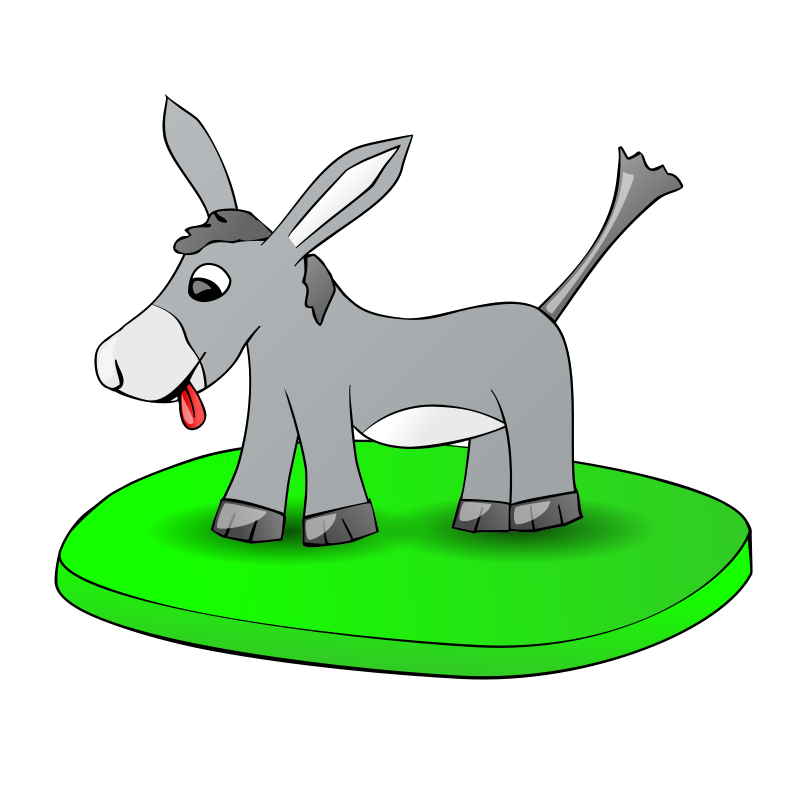 Free Donkey on a plate