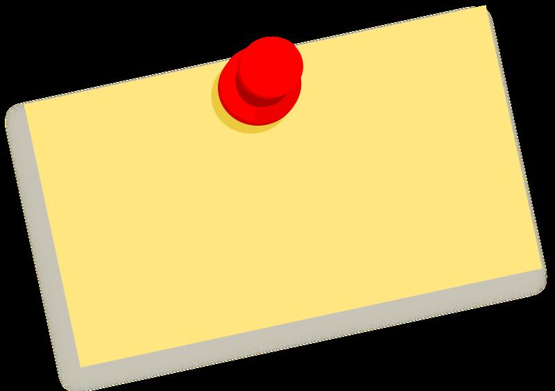 Free Clipart: Thumbtack note blank | zeimusu