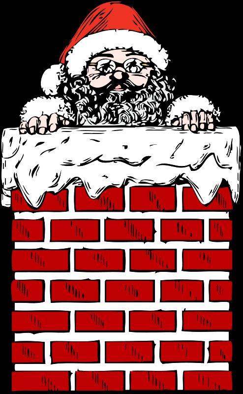 Free santa in a chimney