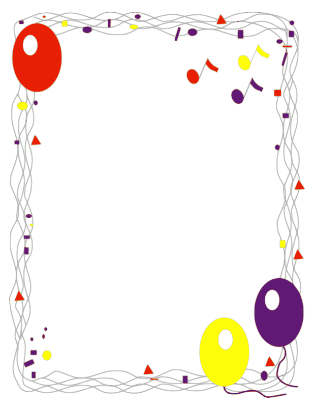 Free Balloon Border