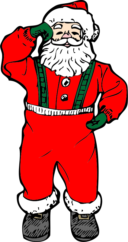 Free Clipart: Dancing santa | johnny_automatic