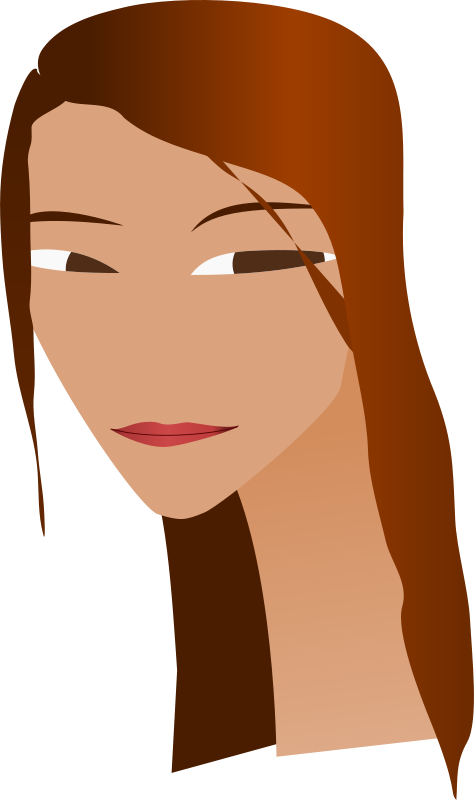 Free Clipart: Woman's face with long neck | zeimusu