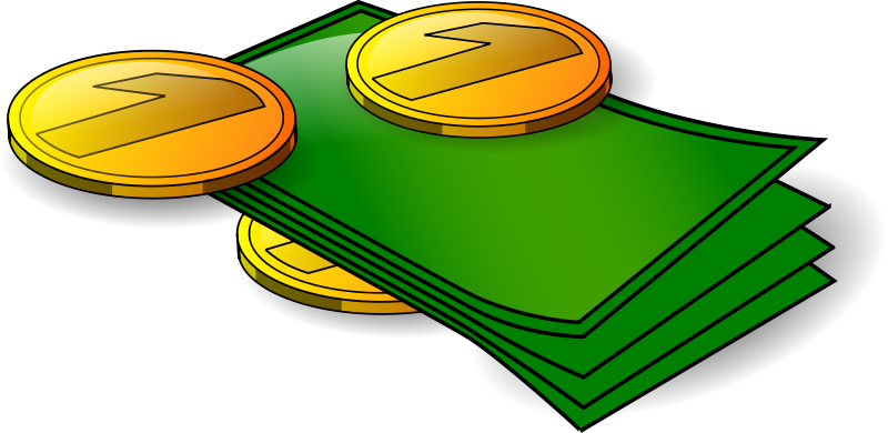 Free Clipart: Money - banknotes and coin | n_kamil