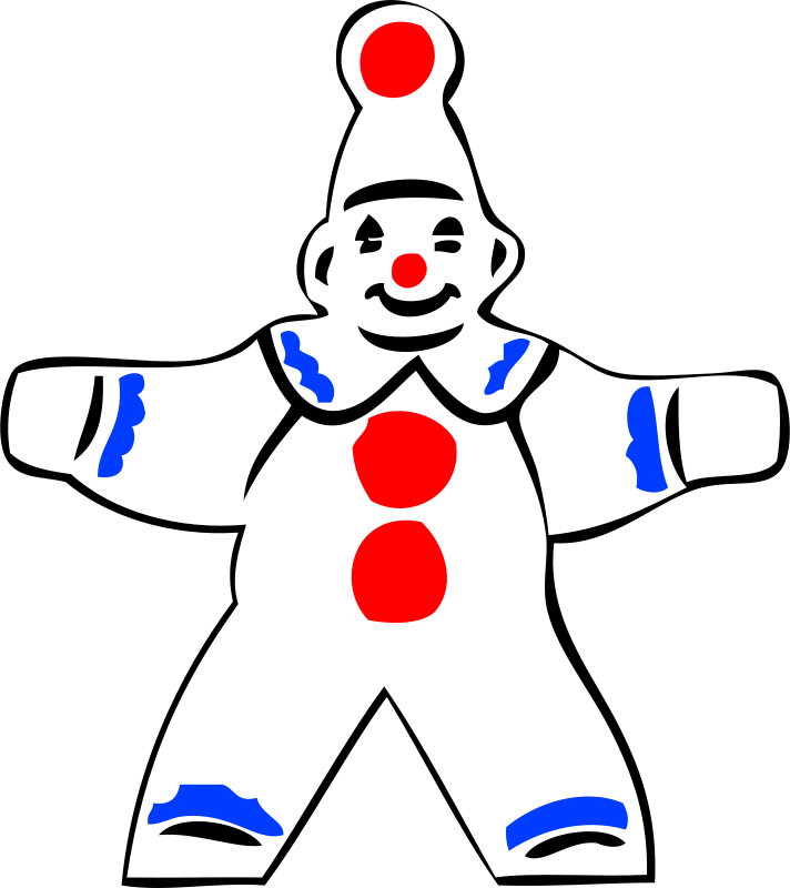 Free simple clown figure