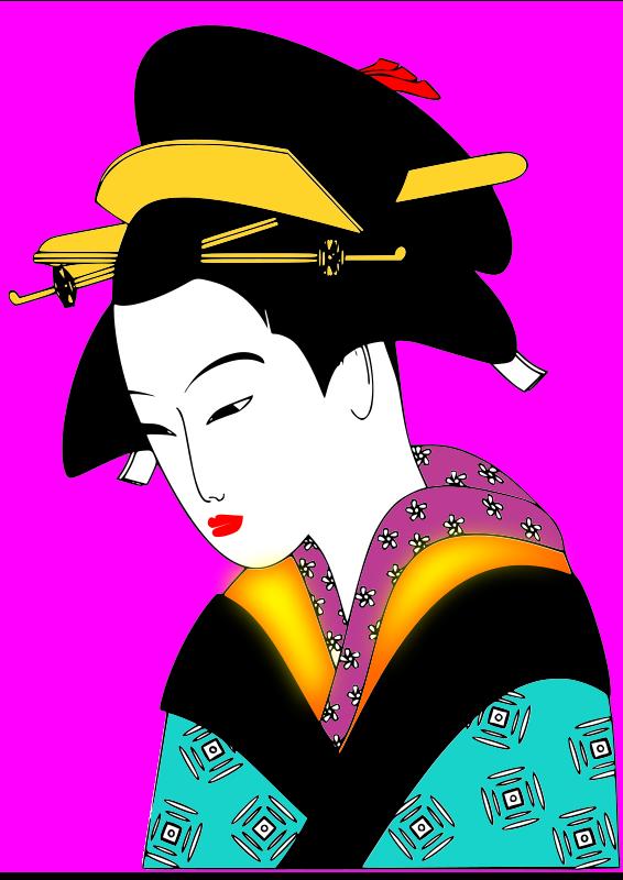Free japan woman svg