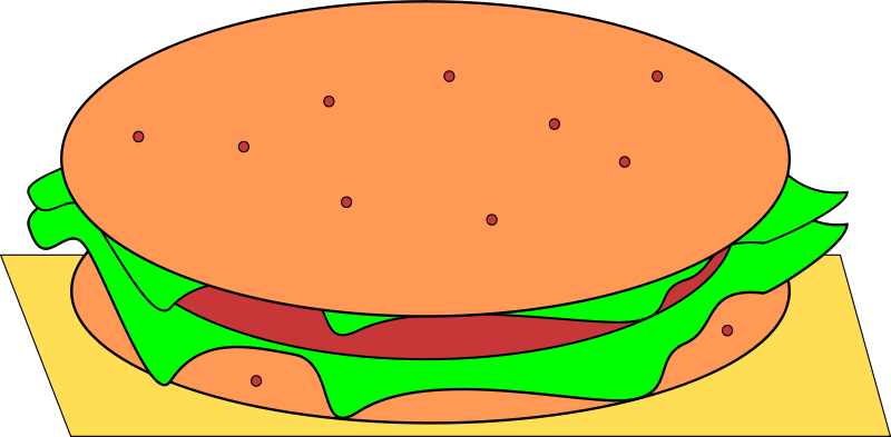 Free Clipart: Hamburger | Machovka