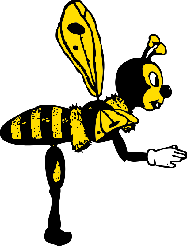 Free bending bee from side