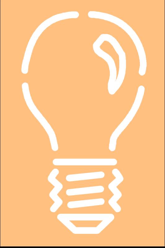 Free Light bulb 4 - white stroke