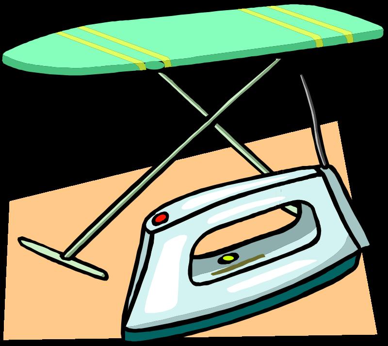 Free Ironing board and iron
