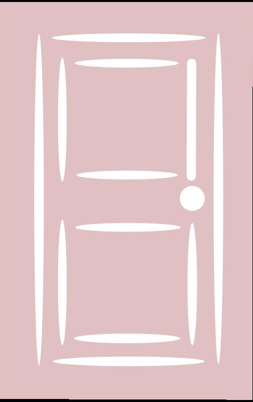Free Door - white stroke