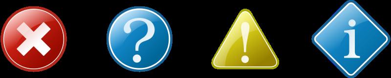 Free information icons set