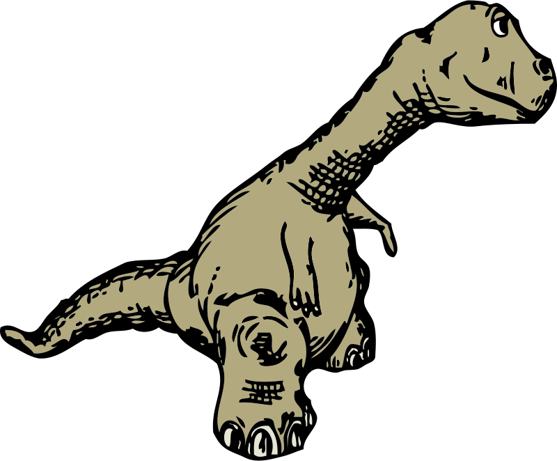 Free dinosaur sideview