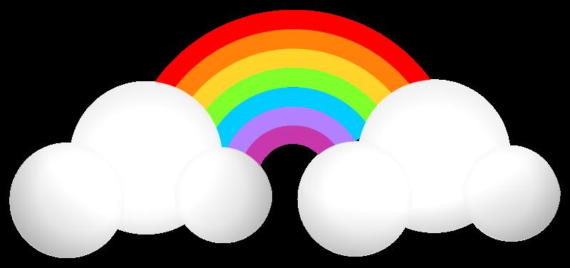 Free Clipart: Cloud & Rainbow | GMcGlinn
