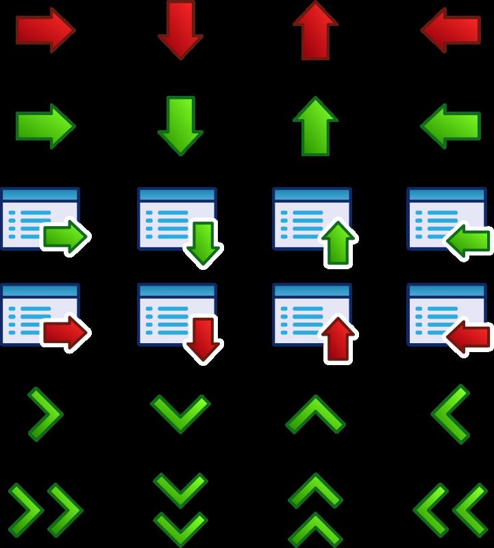 Free arrow_icons_set