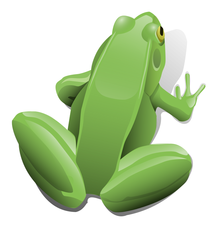 Free Green sitting frog