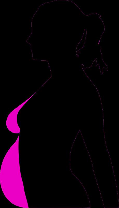 Free pregnancy silhouet