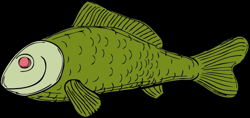 Free green fish