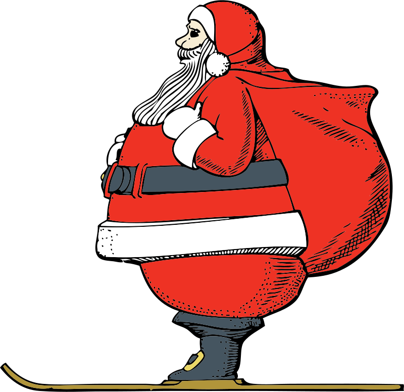 Free Skiing Santa
