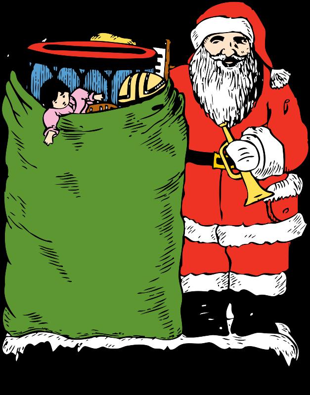 Free santa and his bag