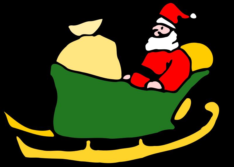 Free Santa in his sleigh