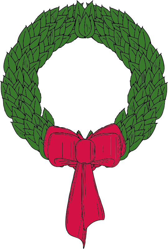 Free Clipart: Christmas wreath | johnny_automatic