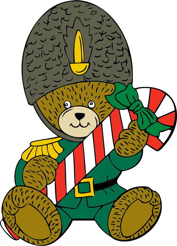 Free Christmas guard bear