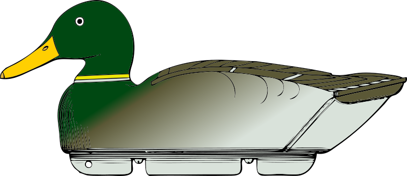 Free duck decoy -side view