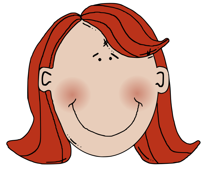 Free Womans face with red hair