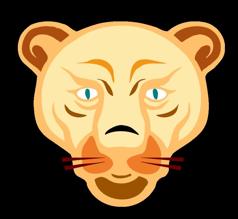 Free lion face