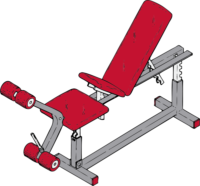 Free Clipart Exercise Bench Johnny Automatic