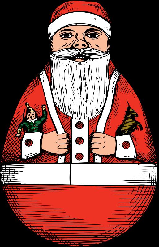 Free rolly-polly Santa
