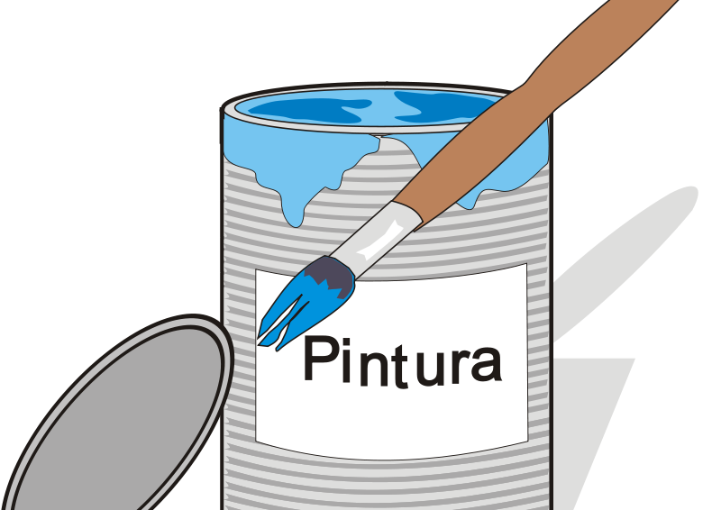 Free Paint tin can and brush