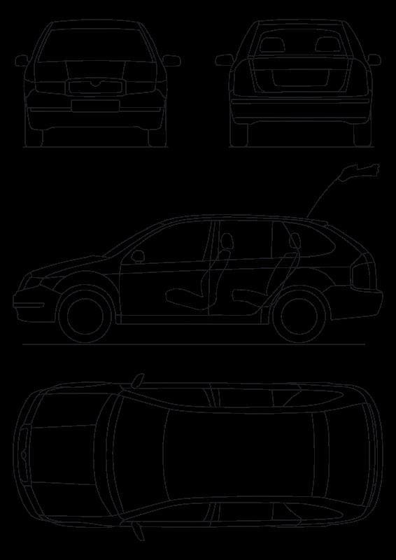 Free Clipart: Skoda Fabia combi schematics | molumen
