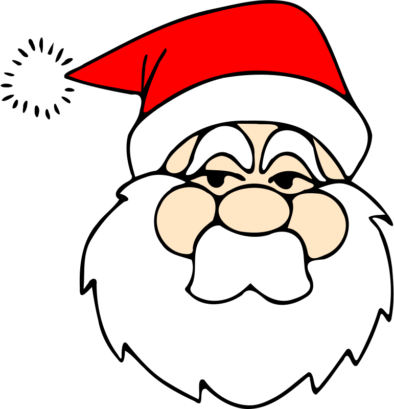 Free Santa line art