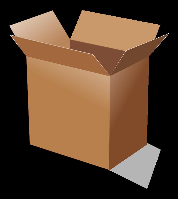 Free open cardboard box