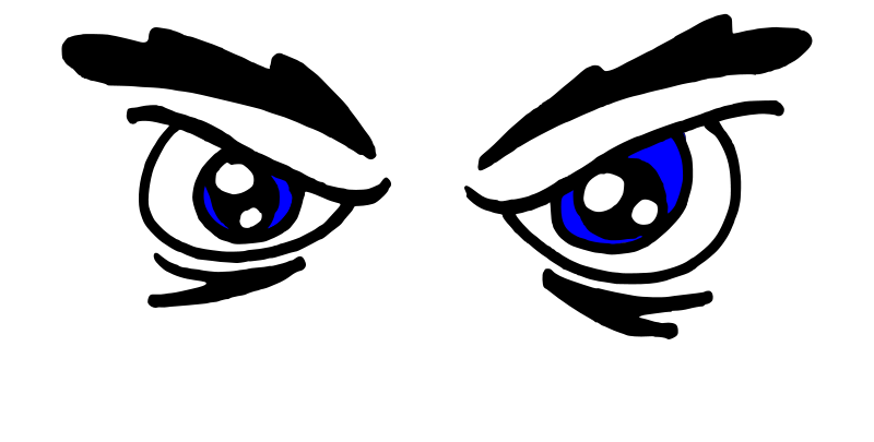 Free Clipart: Angry_Eyes_00 | Platypuscove