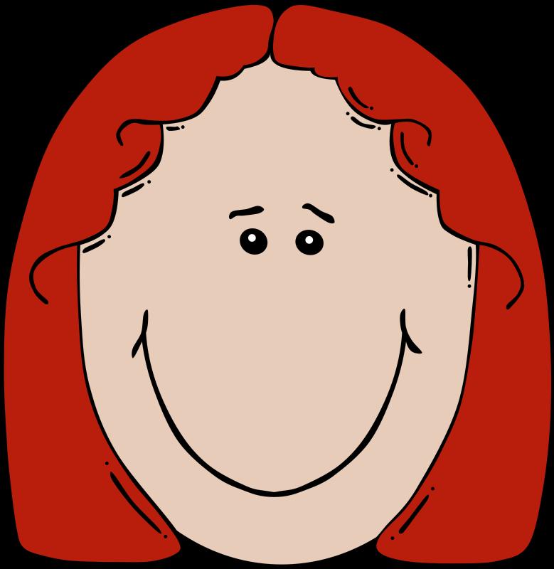 Free Lady Face Cartoon